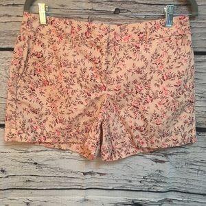 Ann Taylor LOFT shorts. Pink Floral. Size4